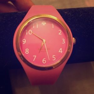 Kate Spade Silicone pink watch